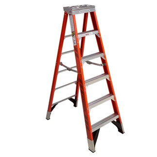 7406 6 ft Type IAA Fiberglass Step Ladder