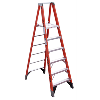 P7406 6 ft Type IAA Fiberglass Platform Ladder