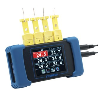 Six Channel Handheld Temperature Data Logger