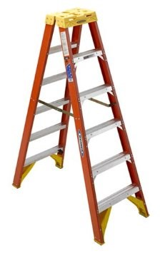 T6206 6 ft Type IA Fiberglass Twin Ladder