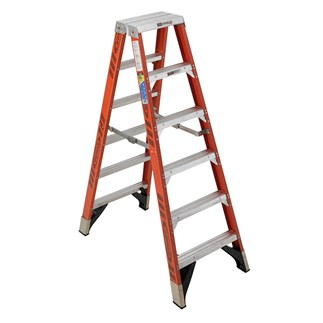 T7406 6 ft Type IAA Fiberglass Step Ladder