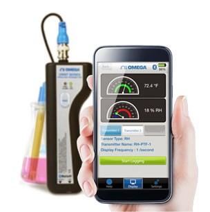 Wireless Transmitter for Smart Phones & Tablets  Temperature, pH, RTD & Relative Humidity